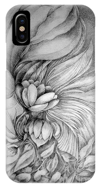 IPhone Case featuring the drawing Cornucopia by Rosanne Licciardi