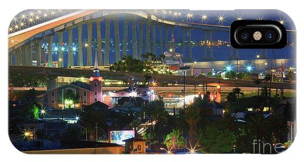 Coronado Bay Bridge Shines Brightly As An Iconic San Diego Landmark IPhone Case