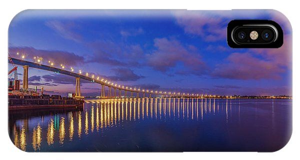 Coronado Bridge Sunrise - Panorama IPhone Case