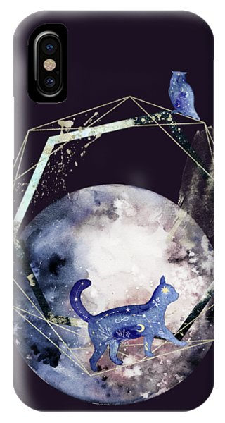 IPhone Case featuring the digital art Cosmic Portal by Bee-Bee Deigner