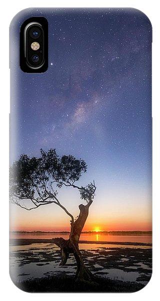 Astro iPhone Case - Cosmic Tree by Damian McCudden