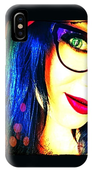 IPhone Case featuring the mixed media Couleur Magique by Rachel Maynard