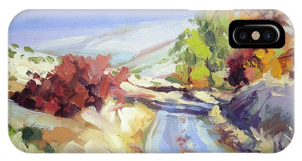 Bush iPhone Case - Country Blue Sky by Steve Henderson