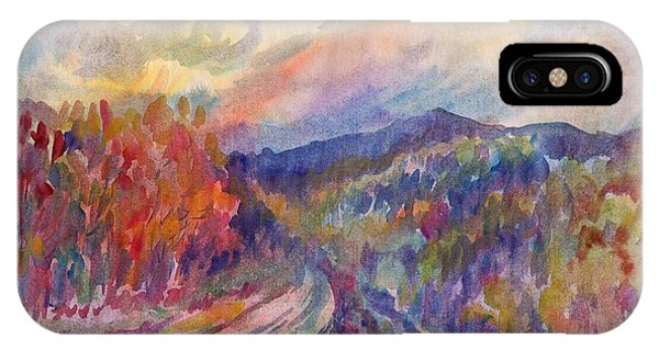 Country Road In The Autumn Forest IPhone Case