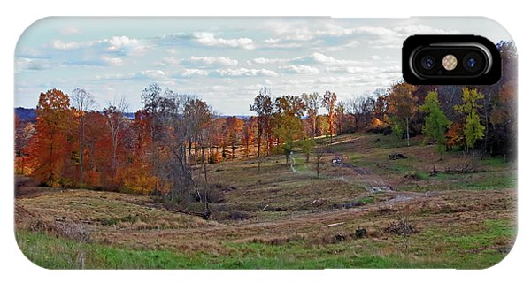 IPhone Case featuring the photograph Countryside In The Fall by Angela Murdock