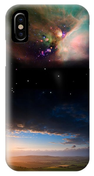 Earth Orbit iPhone Case - Countryside Sunset Landscape With by Matt Gibson