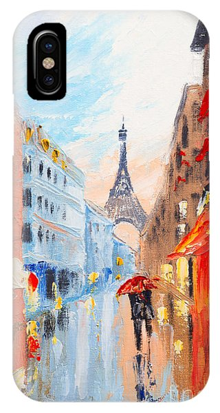 French Landscape iPhone Case - Couple Walking On The Streets Of Paris by Fresh Stock