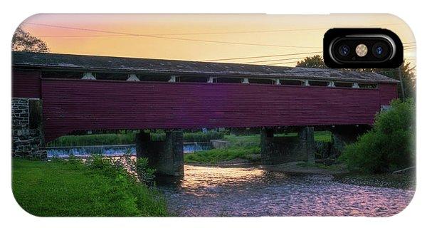 Covered Bridge Sunset IPhone Case