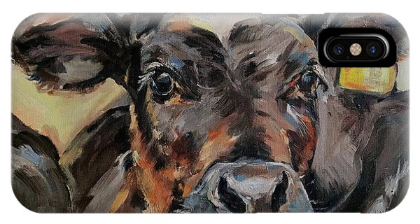iPhone Case - Cow In Oil Paint by Maria Reichert