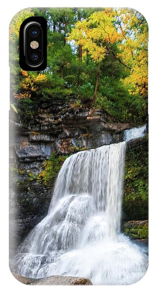 IPhone Case featuring the photograph Cowshed Falls At Watkins Glen State Park - Finger Lakes, New York by Lynn Bauer