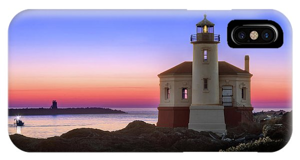 Crab Boat At The Bandon Lighthouse IPhone Case