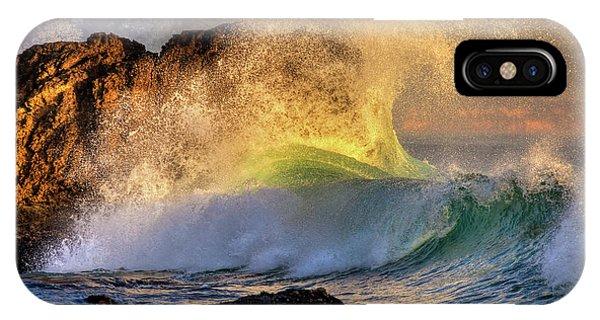 Crashing Wave Leo Carrillo Beach IPhone Case