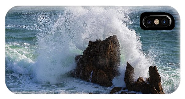 Boulder iPhone Case - Crashing Waves by Larry Marshall