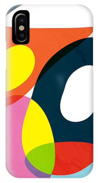 Rectangular iPhone X Case - Crazy Abstract by Mark Ashkenazi