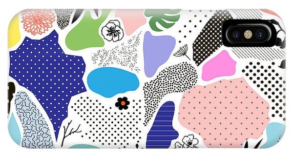Cover iPhone Case - Creative Geometric Background With by Lera Efremova