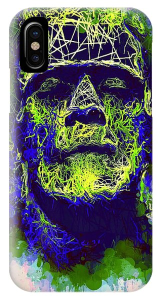 Frankenstein Watercolor IPhone Case