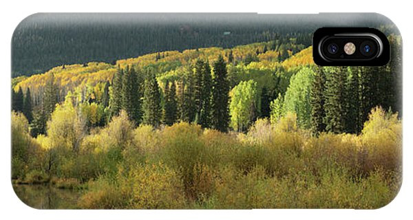 IPhone Case featuring the photograph Crested Butte Colorado Fall Colors Panorama - 1 by OLena Art Brand