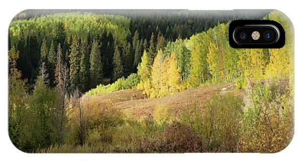 IPhone Case featuring the photograph Crested Butte Colorado Fall Colors Panorama - 2 by OLena Art Brand