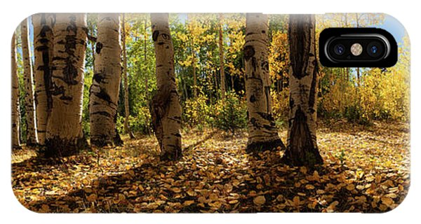 IPhone Case featuring the photograph Crested Butte Colorado Fall Colors Panorama - 3 by OLena Art Brand