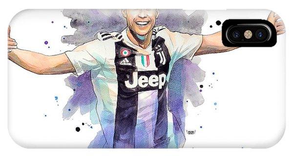 Cristiano Ronaldo iPhone Case - Cristiano Ronaldo Cr7 Juventus by Wachira Kacharat