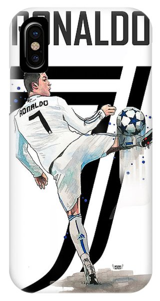 Cristiano Ronaldo iPhone Case - Cristiano Ronaldo, Cr7 by Wachira Kacharat