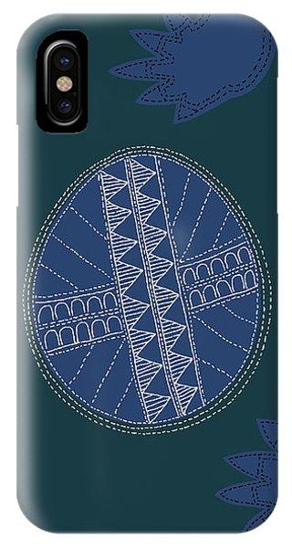 IPhone Case featuring the digital art Crocodile Egg by Attila Meszlenyi