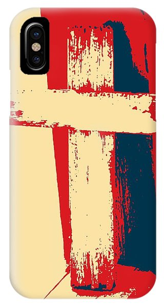 Old Rugged Cross iPhone Case - Cross Ornament 2 by Cathy Lindsey
