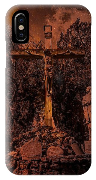 San Gabriel Mission iPhone Case - Crucifixion Of Christ By Richard Cuevas by Cuevas Photography Los Angeles