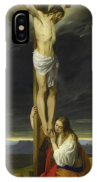 Crucifixion iPhone Case - Crucifixion With Mary Magdalene Kneeling And Weeping by Francesco Hayez