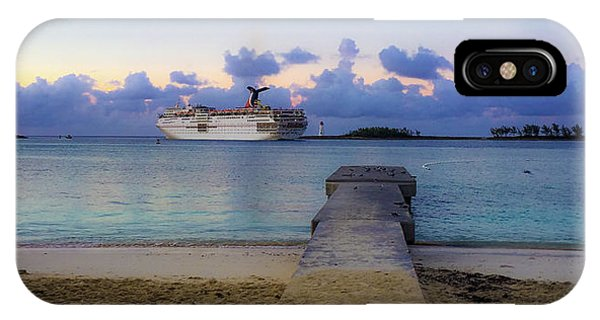 IPhone Case featuring the photograph Cruise Ship Bahamas by Mark Duehmig