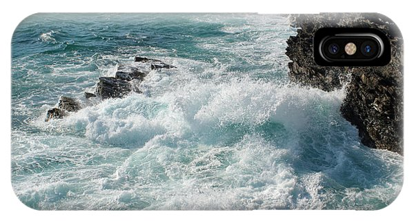 Crushing Waves In Porto Covo IPhone Case