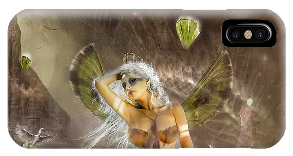Grenn iPhone Case - Crystal Flower by Remy Matto
