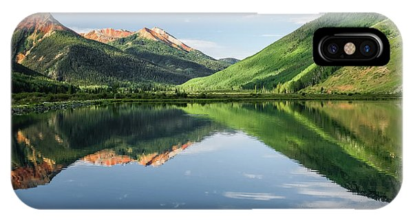 Crystal Lake Red Mountain Reflection IPhone Case