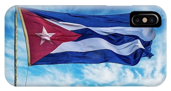 iPhone Case - Cuba, Havana Vieja, Cuban Flag Waving by Miva Stock