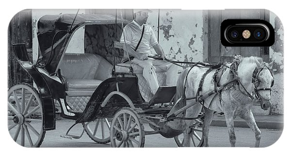 Cuban Horse Taxi IPhone Case