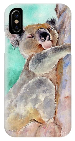 Cuddly Koala Watercolor Painting IPhone Case