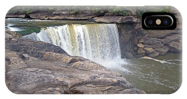 IPhone Case featuring the photograph Cumberland Falls In The Evening by Mike Murdock