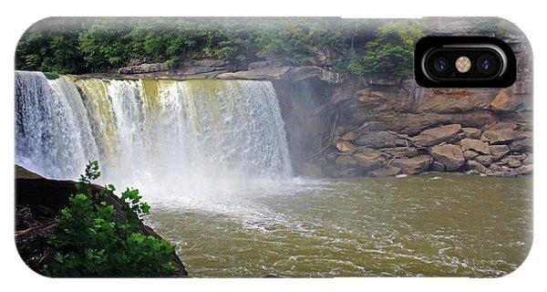 IPhone Case featuring the photograph Cumberland Falls Kentucky by Angela Murdock