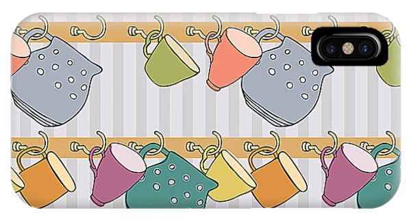Kettles iPhone Case - Cup Background by Nenilkime
