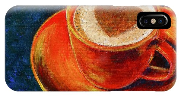 Lid iPhone Case - Cup Of Coffee by Jacqueline Athmann
