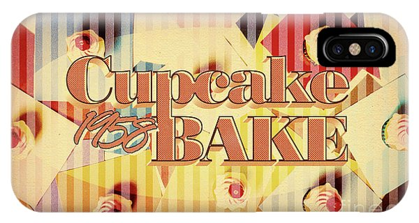 Cake iPhone Case - Cupcake Bake 1958 by Jorgo Photography - Wall Art Gallery