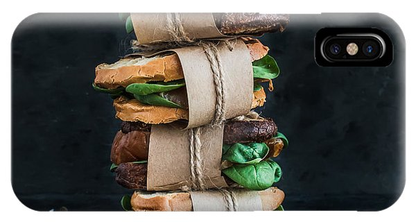Cafe iPhone Case - Cured Chicken And Spinach Whole Grain by Foxys Forest Manufacture