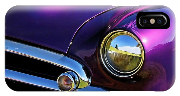 IPhone Case featuring the photograph Custom Purple Chevy by David King