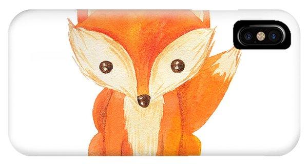 Cute Cartoon Watercolor Forest Animal Phone Case by Zabrotskaya Larysa