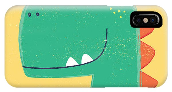 Superior iPhone Case - Cute Dinosaur Head Drawing For Baby by Mke Design