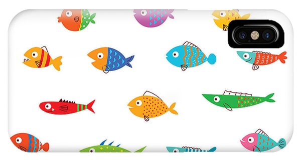 Fins iPhone Case - Cute Fish Vector Collection by Judilyn