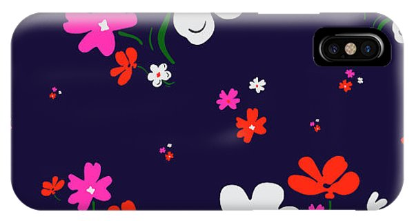 Small iPhone Case - Cute Floral Pattern In Vector by Workingpens