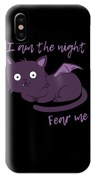 Cute Halloween Cat I Am The Night Fear Me IPhone Case