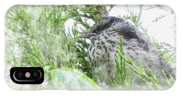 Cute Little Bird On Tree IPhone Case