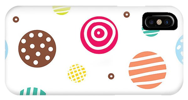 White Background iPhone Case - Cute Seamless Pattern, Polka Dot by Vyazovskaya Julia